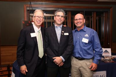 From left to right: Randy Kinnard, Executive Director of Folded Flag Foundation John Coogan, and Founder and Executive Director of A Soldier's Child Foundation Daryl Mackin.